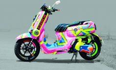 Yamaha QBIX 125  Candy Color